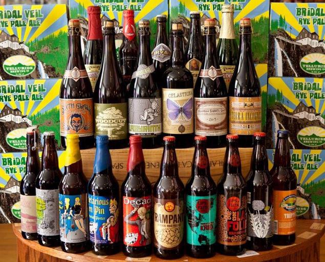 Telluride Bottleworks beer selection